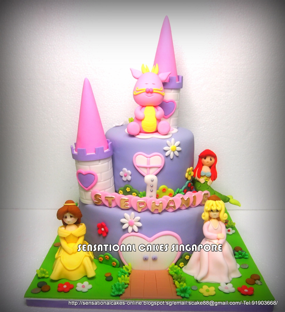 The Sensational Cakes DRAGON GIRL PRINCESS CASTLE CAKE SINGAPORE