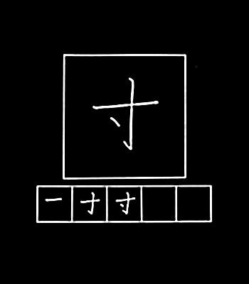 kanji ukuran