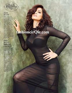 Bipasha Basu Hot Photo shoot for Man's World in black dress