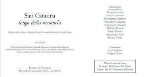 San Cataru, luoghi della memoria e Presentazione dell'Opera di Rosario Bruno a Terrasini