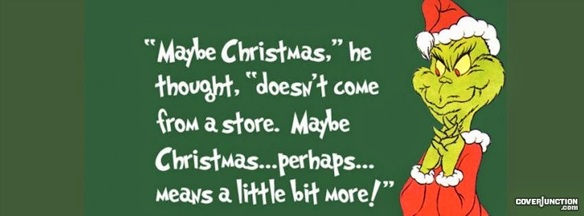 Grinch Quote Christmas Cover Photo