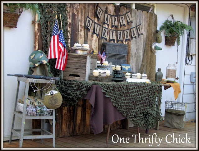 Army themed crafts for Army party decoration ideas