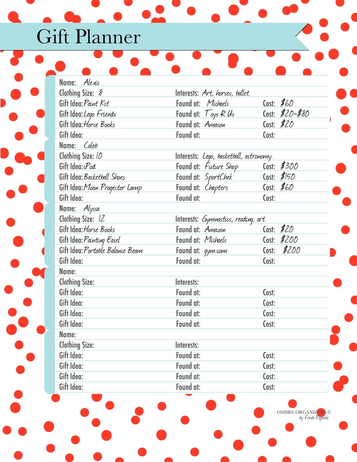 Christmas Printables | Printable Christmas Planner