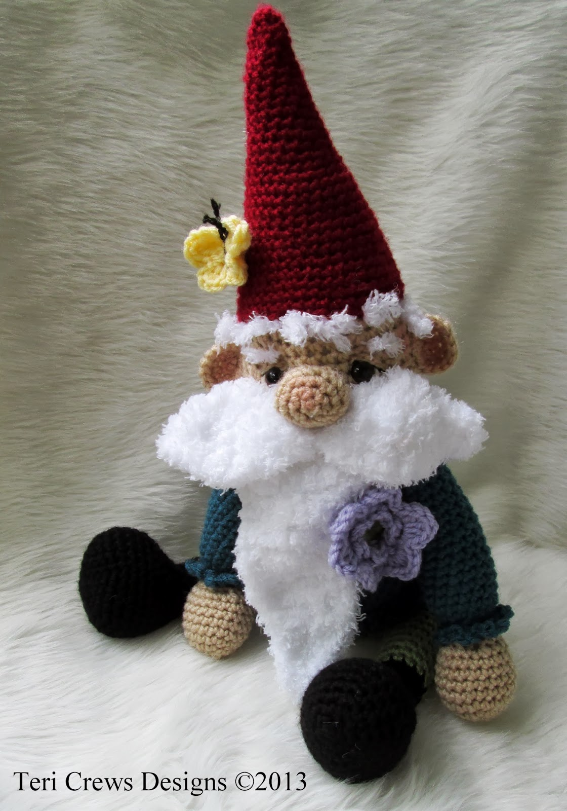 Free Crochet Baby Gnome Hat Pattern : Teris Blog: New Cute Gnome Crochet Pattern