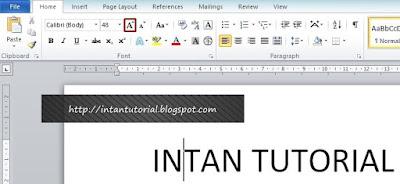 Cara membesarkan huruf / tulisan dengan Grow Font