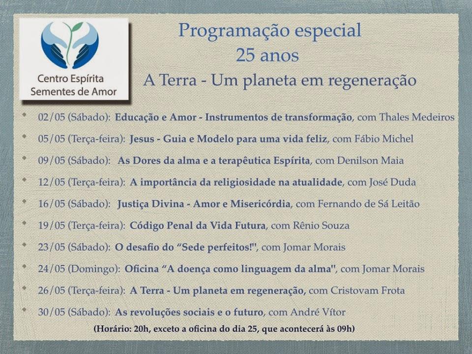 PROGRAMAÇÃO ESPECIAL DE 25 ANOS