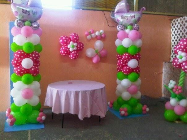 MuyAmeno.com: Decoracion de Baby Shower con Columnas de Globos ...