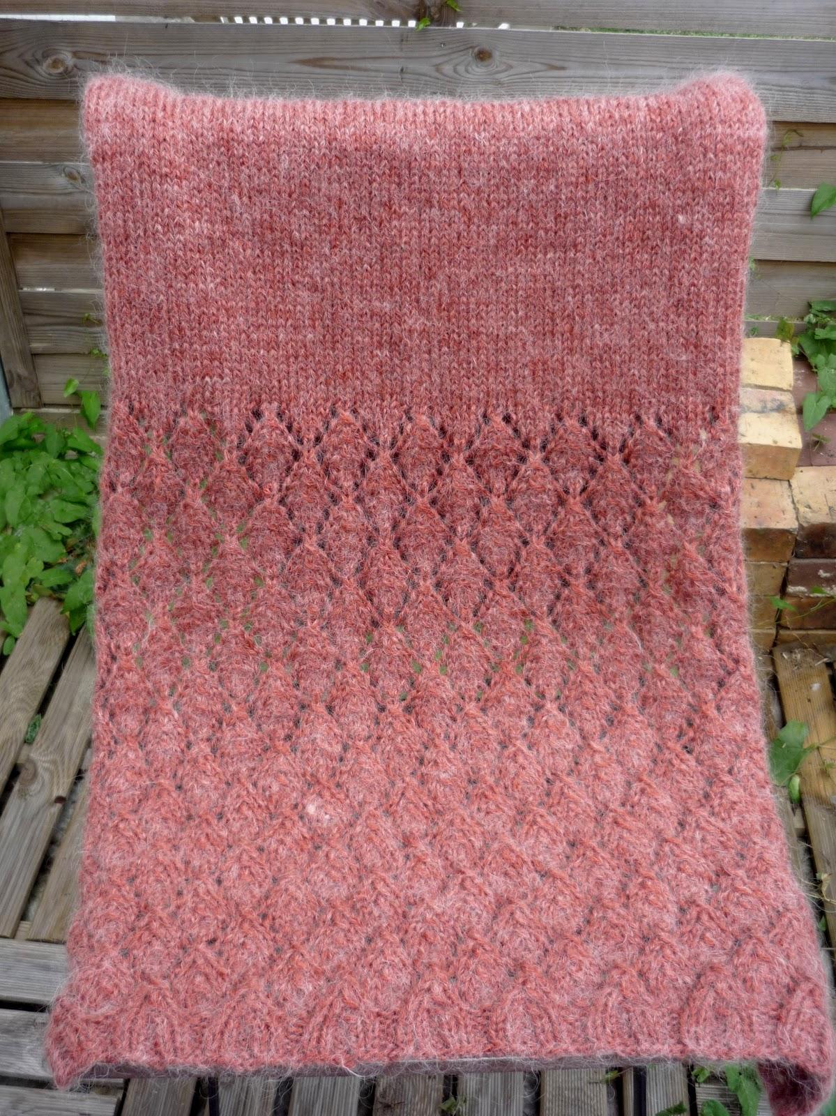 Douceurs et couleurs quatre mains - Point de tricot ajoure pour echarpe ...