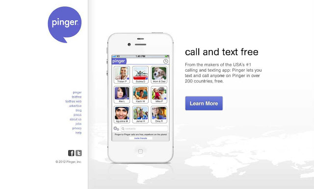 Call and text for free app Pinger