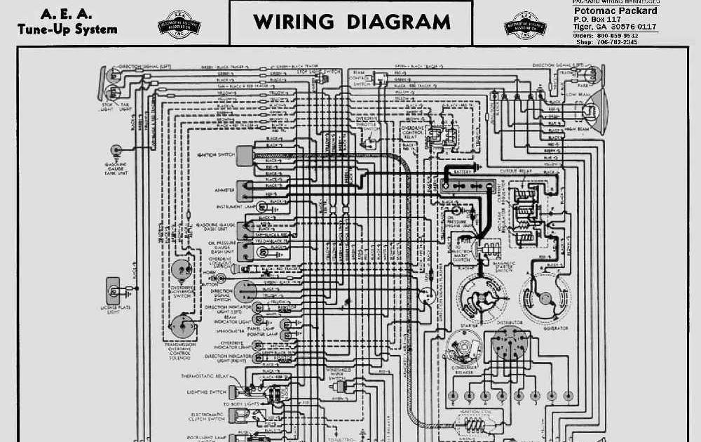 automotif wiring diagram  1946 47 packard 8 cylinder