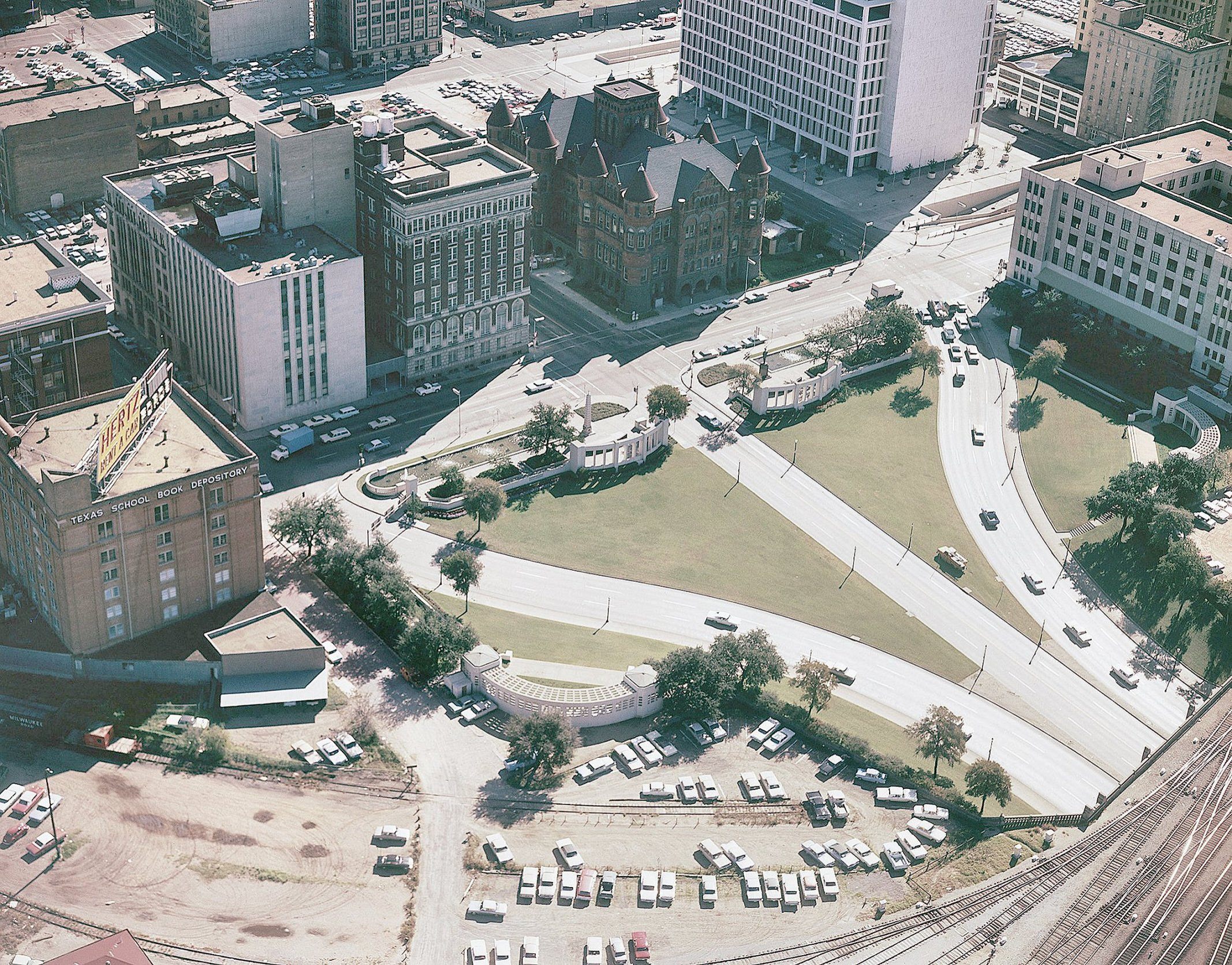 Aerial-Photo-Of-Dealey-Plaza-In-Dallas-T