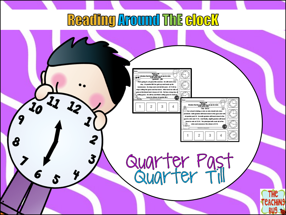 https://www.teacherspayteachers.com/Product/Telling-Time-Reading-Stories-quarter-till-quarter-after-1734833