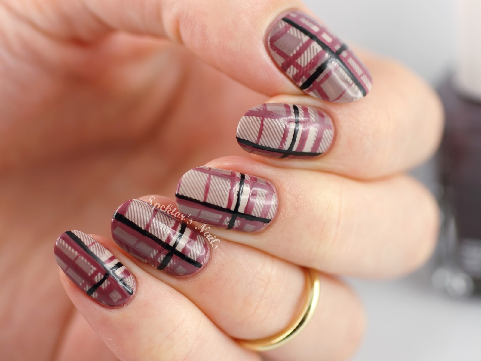 MoYou London Hipster Collection Plaid Nails