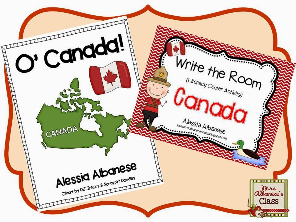 http://www.teacherspayteachers.com/Product/Write-the-Room-Literacy-Center-Canada-mini-book-FREEBIE-1175448