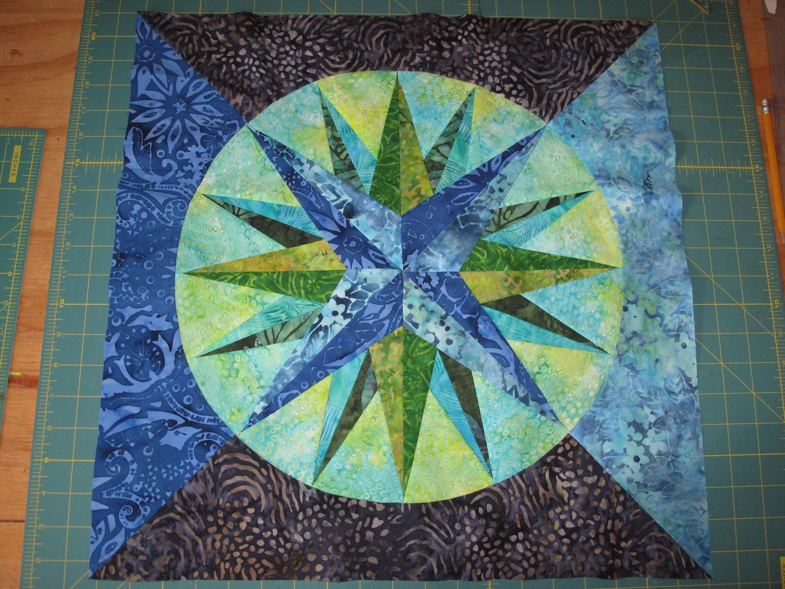 The Dirtyard Custom Batik Quilt Block
