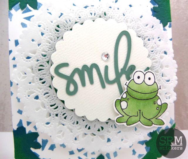 SRM Stickers Blog - SRM Stickers & 17 Turtles by Annette Allen - #17 Turtles #card #doilies #stamps #janesdoodles #punchedpieces