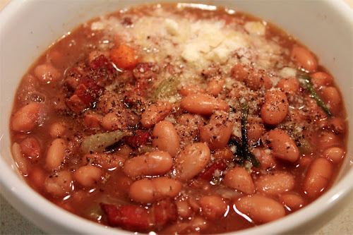 Red Wine Beans with Smoky Bacon