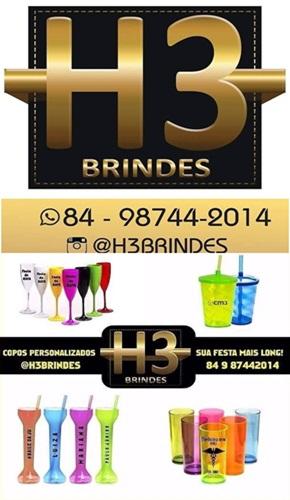H3 BRINDES - Copos Personalizados - Mossoró/RN