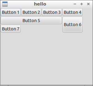 GTK+3 example of Grid