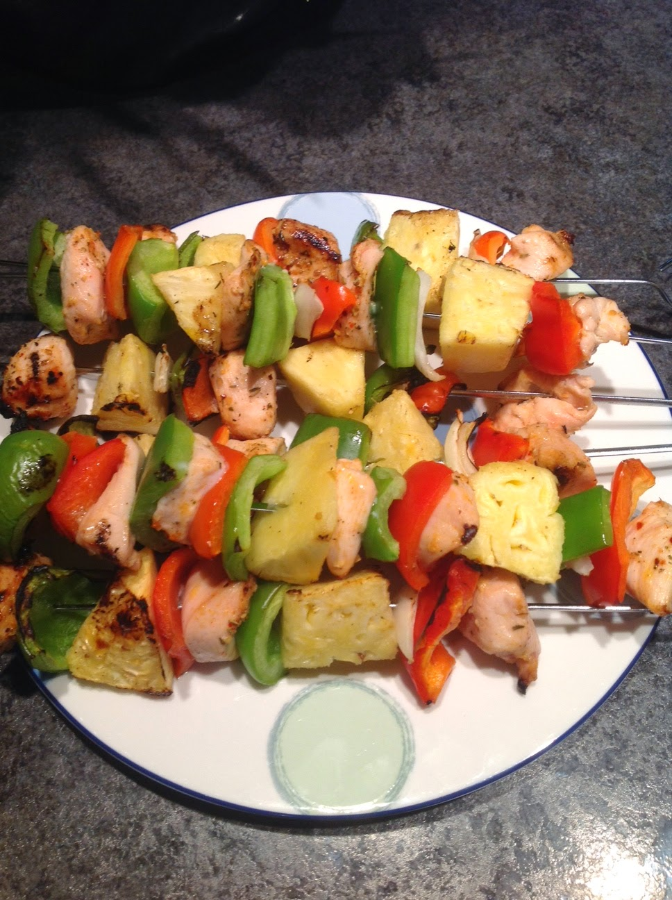 Grilled Chicken Kabobs with Pineapple
