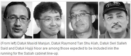 'Favourites' for Sabah cabinet