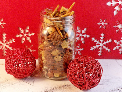 Slow Cooker Party Mix by Cravings of a Lunatic