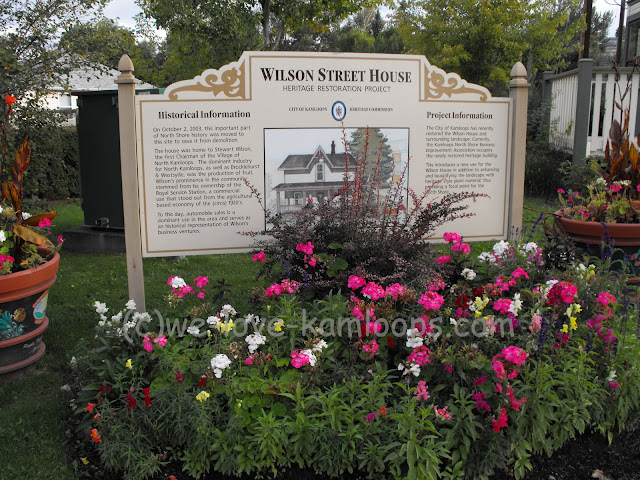 Planters as well as a garden showcase the Wilson Street house.