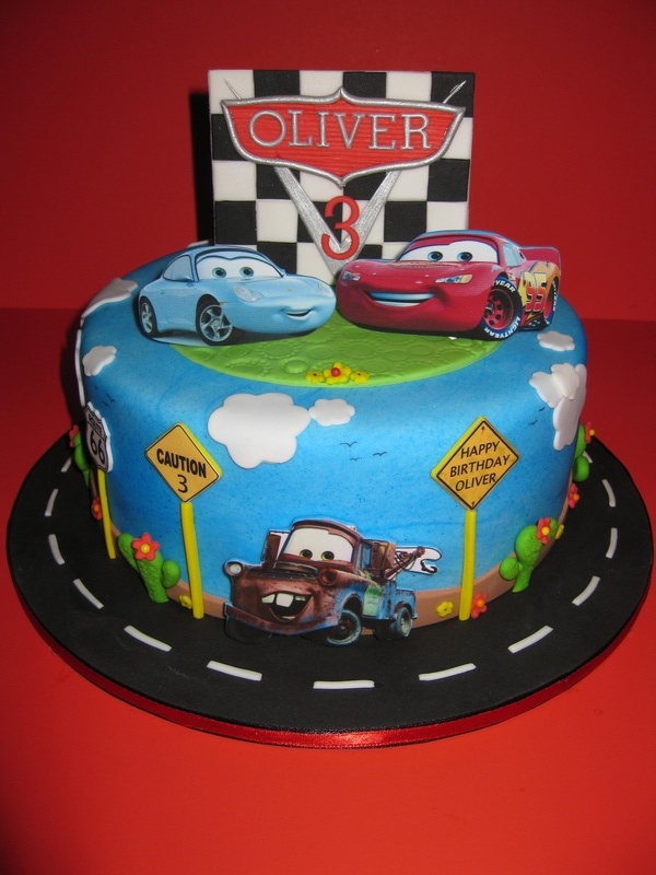 Birthday Cake Images With Car : Birthday Cakes For You: Blue Cake with decoration car