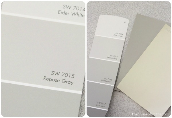 Blue gray paint color for Light gray color swatch