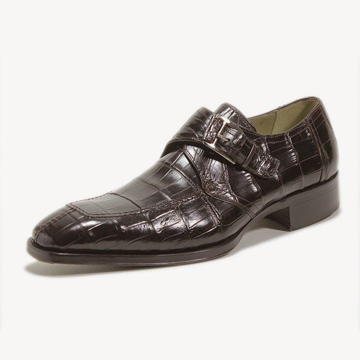 Brown Genuine Alligator COMODO Monk Strap