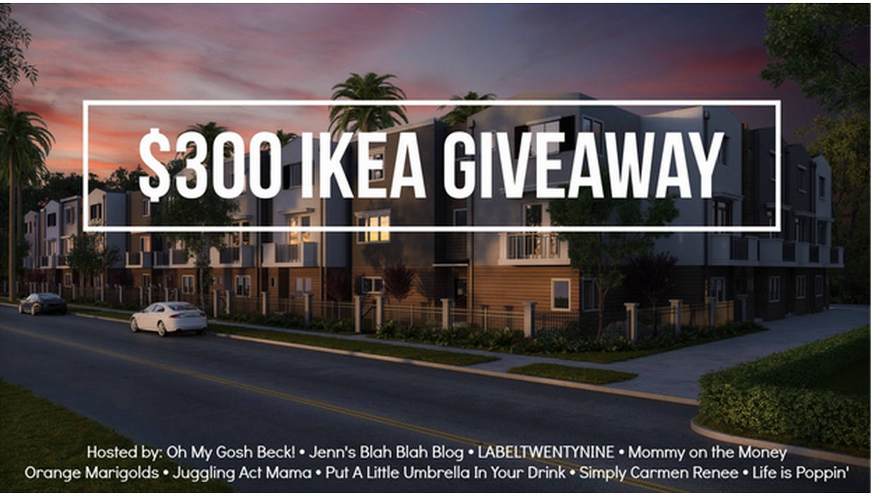 Enter to win $300 Ikea Gift Card