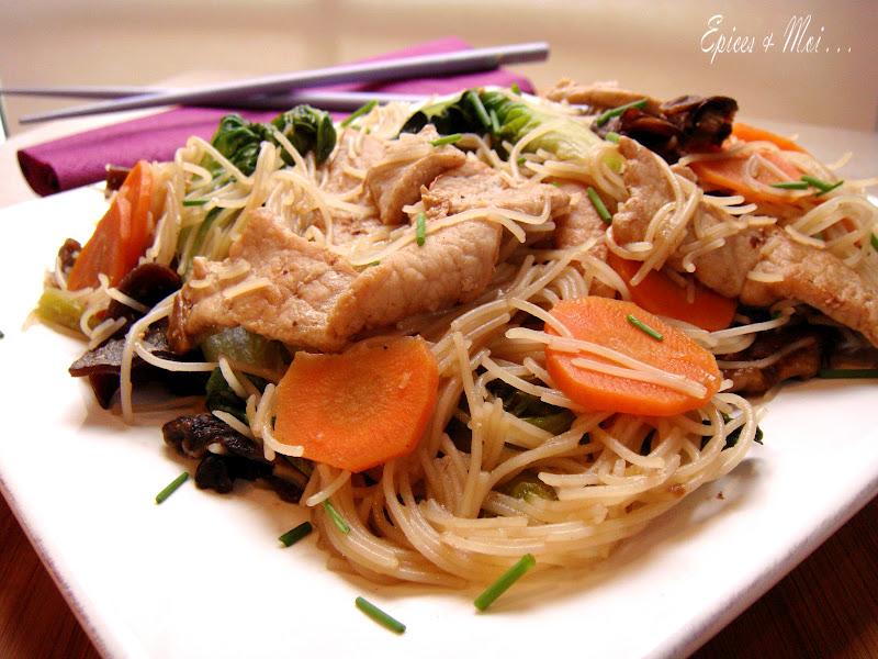 Vermicelles de riz sautées à la taiwanaise - Épices & moi on