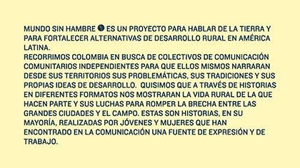 CONOZCA Y HAGA PARTE Y CONOZCA EL PROYECTO MUNDO SIN HAMBRE