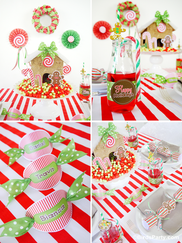 Ideas Kids 39 Holiday Table Part 1 Candyland Table FREEBIES
