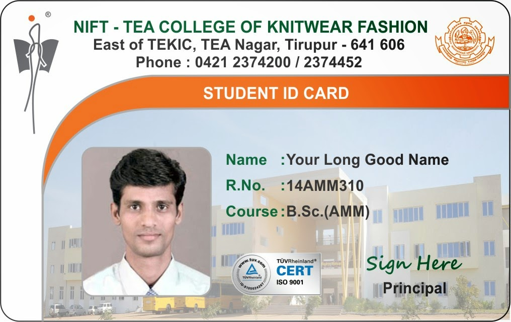 template galleries new student and staff id card template updated