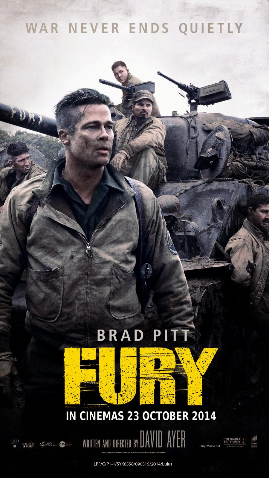 fury 2014 brad pitt poster wwwimgkidcom the image