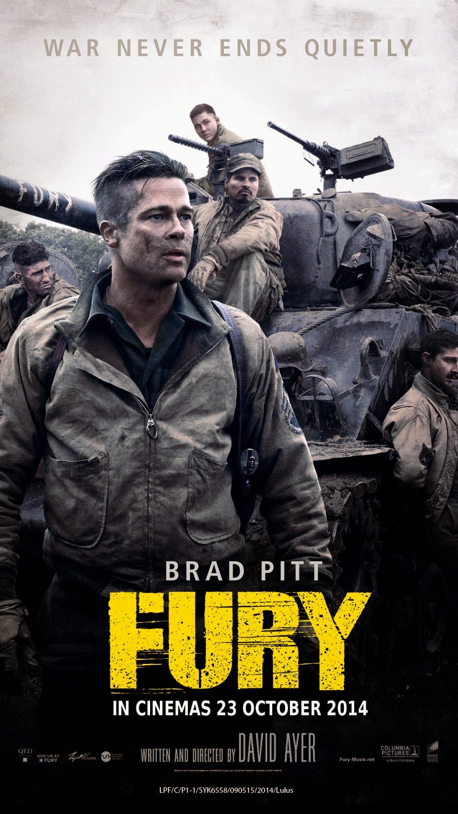 Fury |  Įniršis (2014 LT EN)  Veiksmas, Drama, Karinis