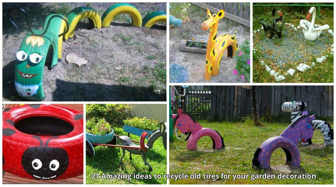 sometimes you maybe search for new things for make recycle crafts old tires is one of them it is an easy material that can transform in to many creative - Garden Ideas Using Old Tires