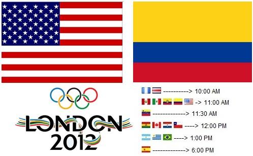 estados unidos vs colombia en vivo sabado 28 de julio 2012 ...