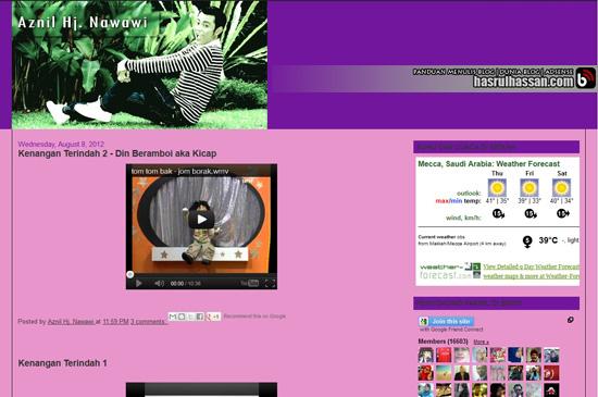 Blog Aznil - Selebriti, Pengacara Popular Malaysia