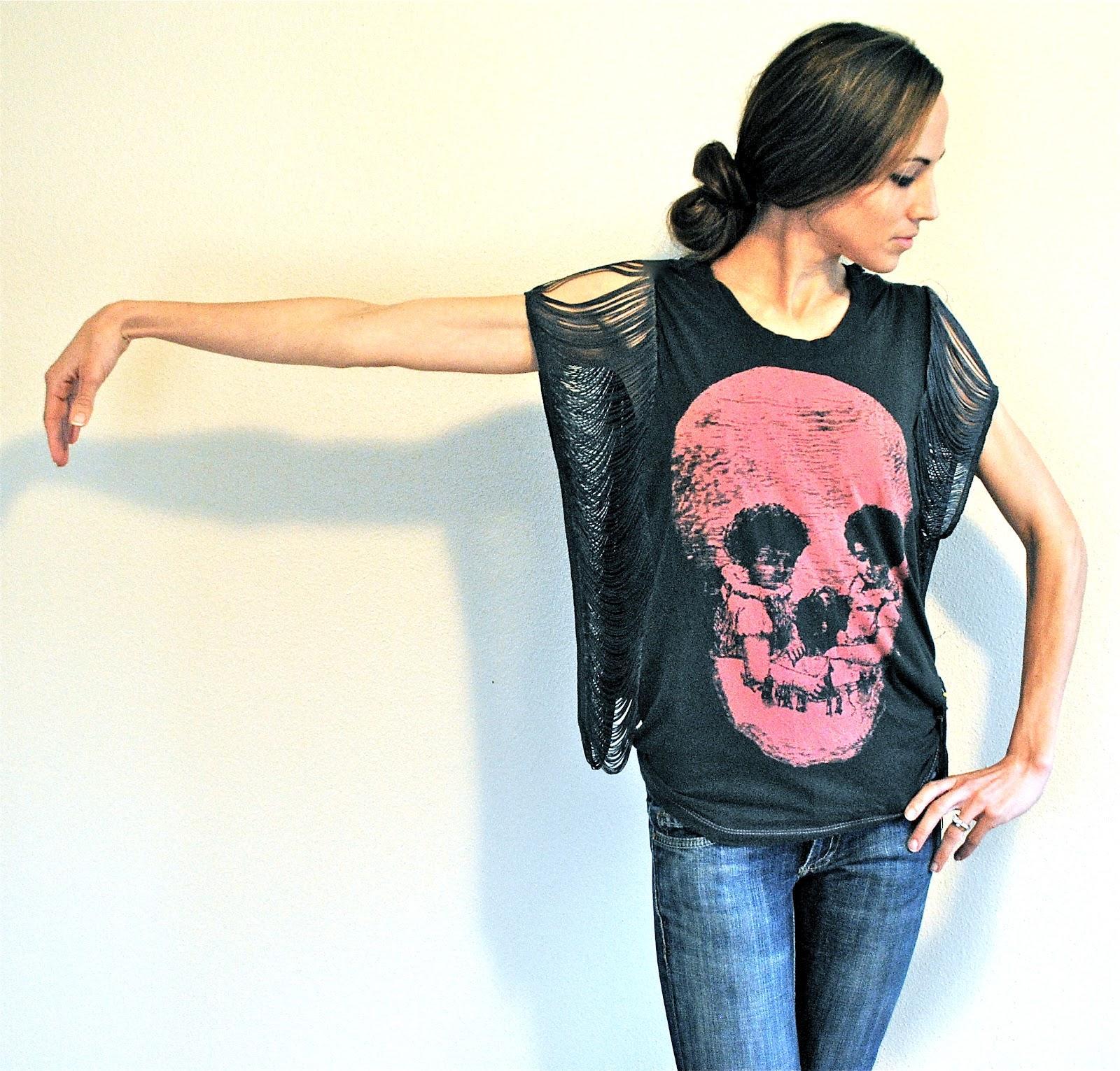 Fringe Sleeve/Seam Tshirt. Great for making those tight shirts ...