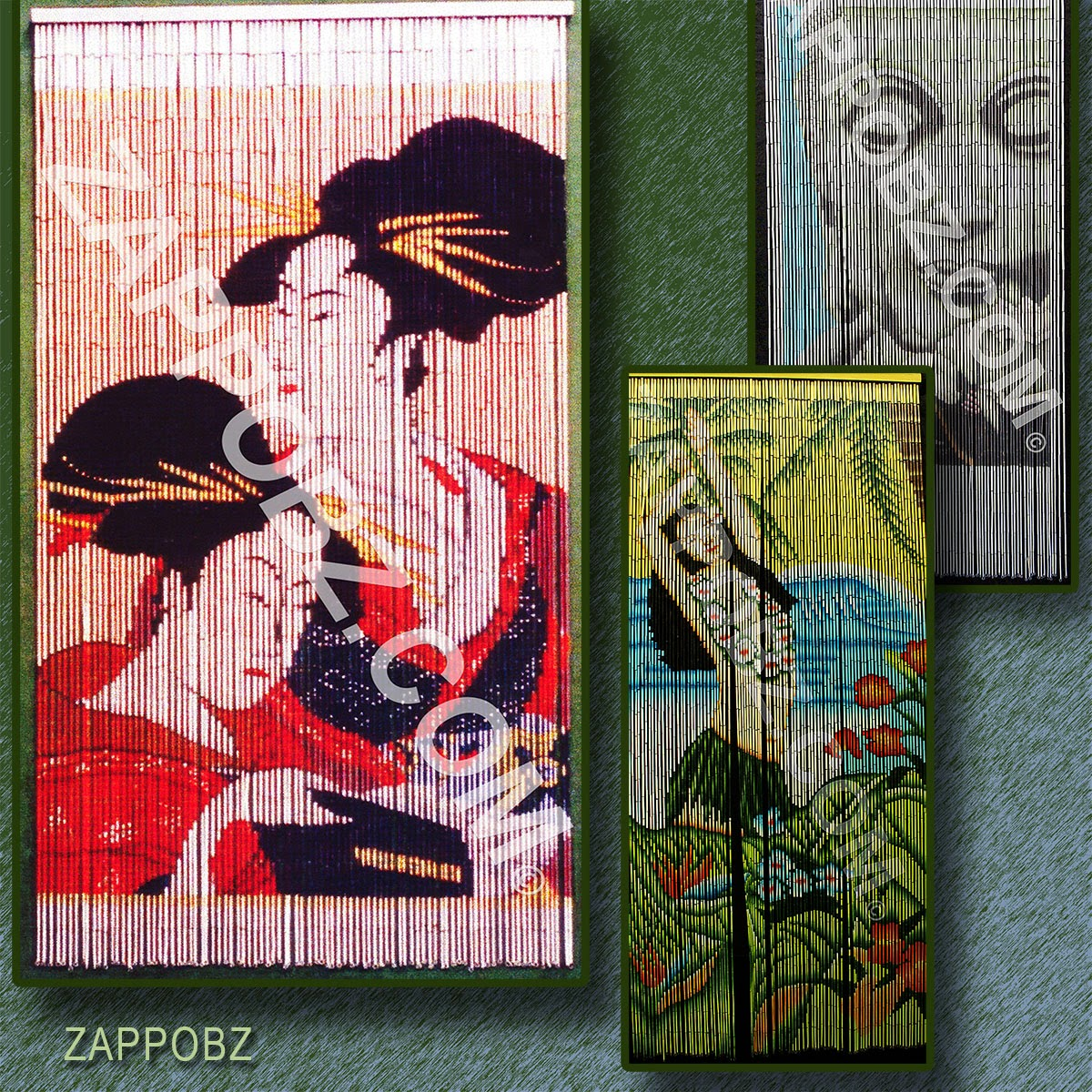 Zappobz decor hand painted bamboo curtains