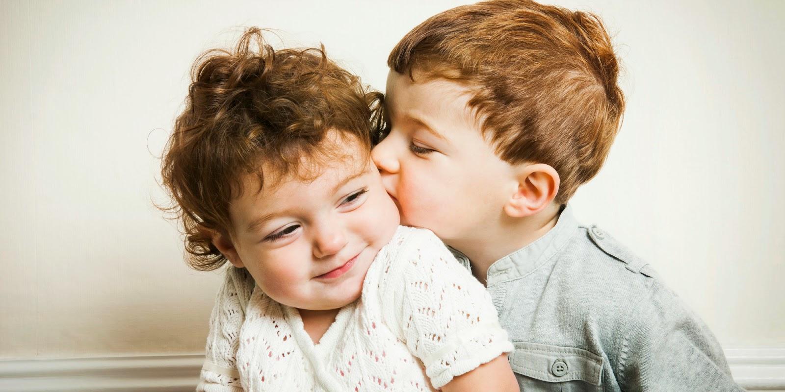 Boy kiss girl romantic