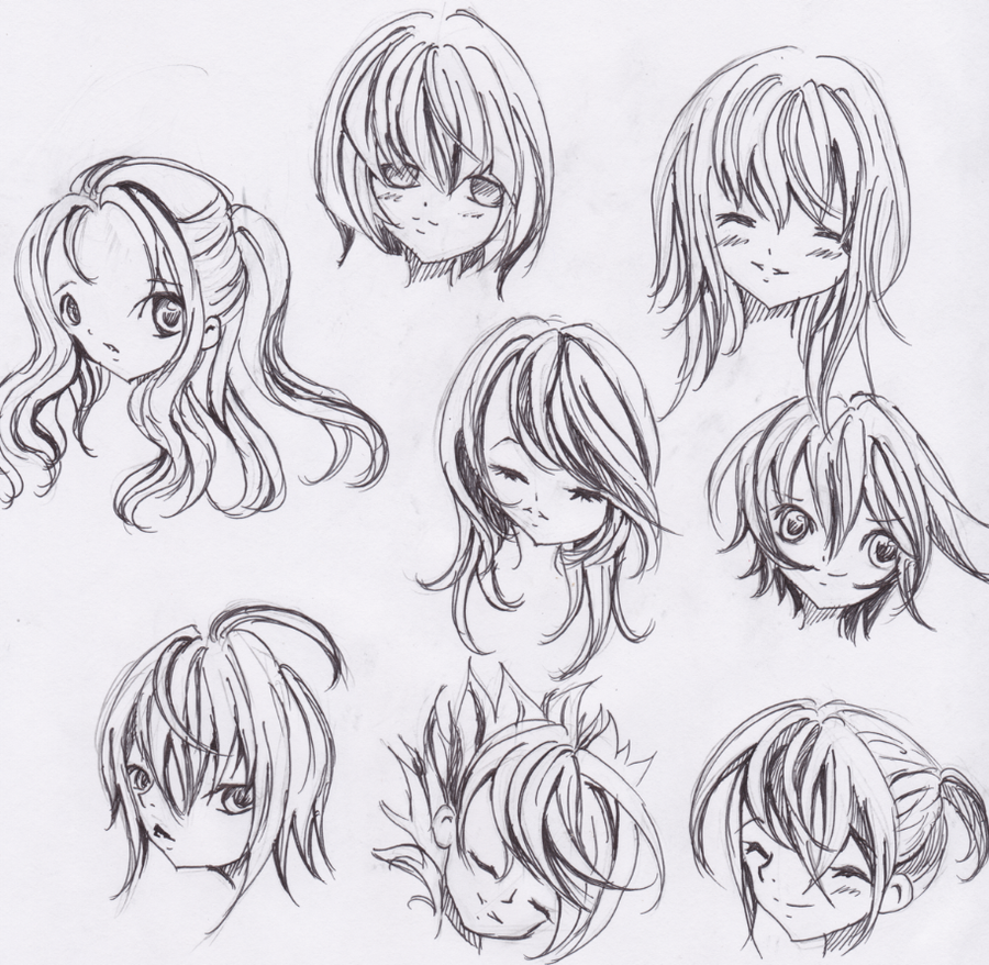 Cute Anime Hairstyles Trends Hairstyle
