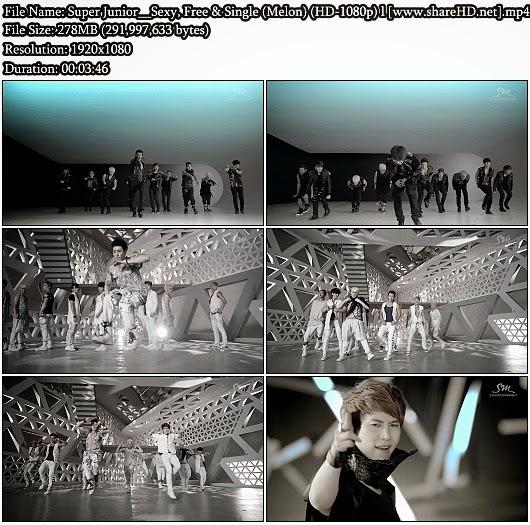 Download MV Super Junior (슈퍼주니어) - Sexy, Free & Single (Melon Full HD 1080p)