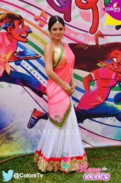 Drasthi dhami half saree stills at Madhubala holi bash