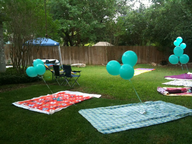 since it was after all a teddy bear picnic we layed out picnic