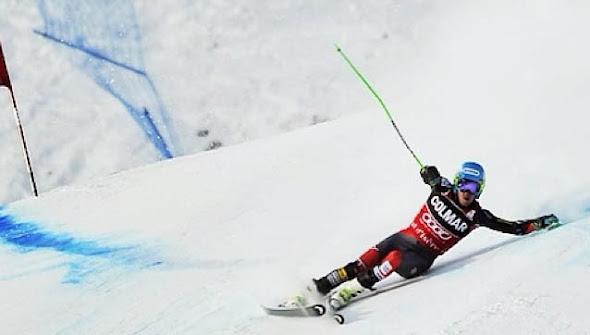 Pád po vnútornej lyži, Ted Ligety, Val d´Isere, Francúzsko 14.12.2013