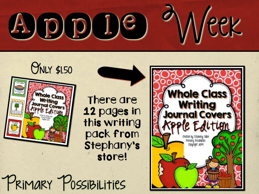 http://www.teacherspayteachers.com/Product/Whole-Class-Writing-Journal-Covers-Apple-Edition--1422328