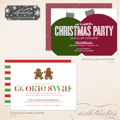 printable diy holiday new year's christmas party invitation gathering soiree fun cookie bake ornament exchange unique custom personalized